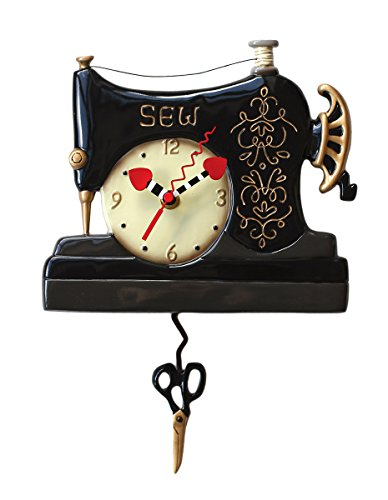 Why Should You Buy Allen Designs Vintage Stitch Sewing Machine Pendulum Wall Clock