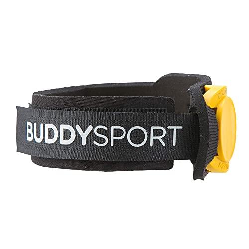 BUDDYSWIM Porta Chip. Banda Elástica de Neopreno para el Tobillo Natación, Ciclismo, Running, Triatlón u Otros Deportes. Color Negro
