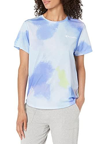 Champion Sport Lightweight tee Camiseta, Multicolor, M para Mujer