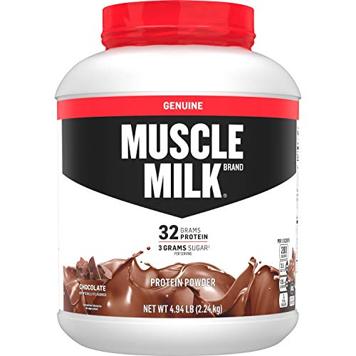 Muscle Milk Genuine Protein Powder, Chocolate, 32g Protein, 4.94 Pound, 32 Servings