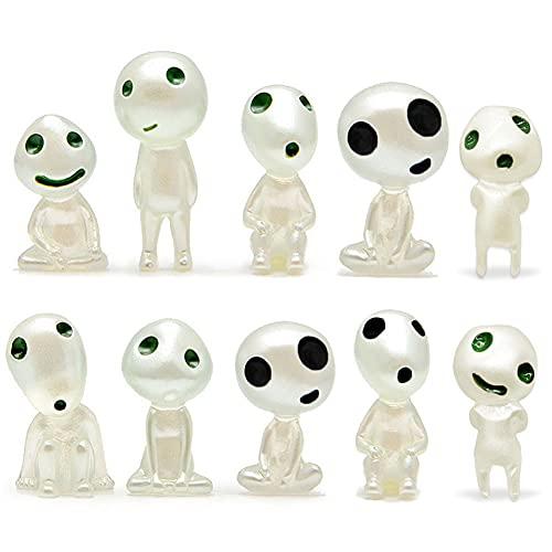 Nesloonp Baum Elfen Puppe 10 Stück Mini Gartendeko Prinzessin Mononoke Puppe Micro Landschaft Ornament für den Garten Getopfte Dekoration Home Decor