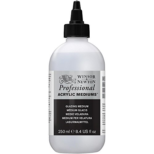 Winsor & Newton 3040934 lazura - środek malarski, nadaje maksymalny połysk, przenikalność farb akrylowych - butelka 250 ml