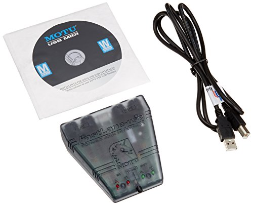 MOTU Fastlane USB-MIDI-Schnittstelle, Schwarz