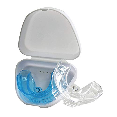 Gouttières Dentaires,TPE Gouttière Dentaire Anti Bruxisme,Sans BPA   Petit étui de Rangement,Pour Appareil Dentaire,Arrêtez Grincements De Dents Du Sommeil/Protege Dent Anti Ronflement.(2 Pièces)