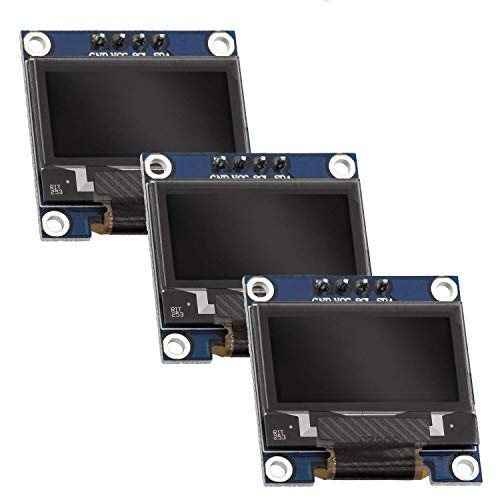 AZDelivery 3 x 0,96 Zoll OLED Display I2C 128 x 64 Pixel I2C Bildschirm Anzeigemodul mit weißen Zeichen kompatibel mit Arduino und Raspberry Pi inklusive E-Book!