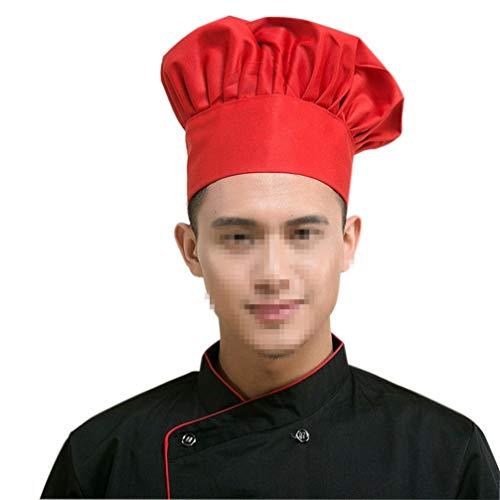 YARNOW Gorro de Cocinero Elástico Panadero Cocina Catering Cocina Sombreros de Chef Gorras de Chef de Cocina para Cocinar Hornear Favores de Fiesta Cocina Casera Escuela Y Restaurante