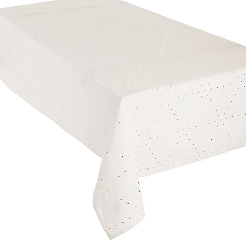 Atmosphera Chaise Nappe Rectangulaire 140 x 240 cm Ecru