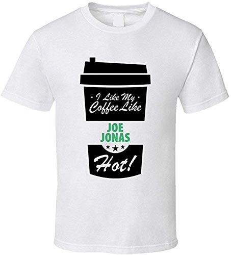 Whgdeftysd Ik hou van mijn koffie als Joe Jonas Hot Mens Celeb Fan Print T-shirt met korte mouwen