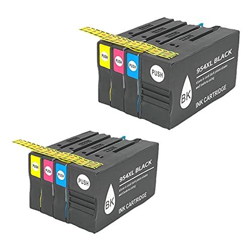RICR Cartuchos De Tinta Remanufacturados para El Reemplazo De para HP 954 XL, Compatible para HP OfficeJet Pro 7740 8210 8710 8715 8716 8720 8725 8730 8740 All-in-One Man 2set