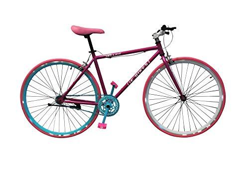 Helliot Bikes Fixie Brooklyn H35 Bicicleta Urbana, Unisex Adulto, Rosa, Talla Única