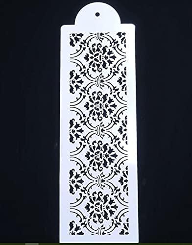 Ornament-Bordüre Barock-Größe A4 wiederverwendbare Schablone Shabby Chic Decor Craft/B23 (PVC wiederverwendbare Schablone, 32 cm x 10 cm)