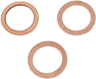 50Pcs 14x20x2mm Cobre Arandela de anillo plano Junta de sello M14