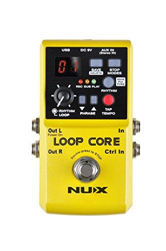 NUX Loop Core,Guitarra Efecto Pedal, Looper, 6 Horas Tiempo de grabación, 99 USUARIO Memories, Tambor diseño con grifo TEMPO
