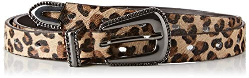 Guess Blenda Leather Belt Cinturón, Multicolor (Real Leopard Beige C Pn89), 95 (Talla del fabricante: Medium) para Mujer