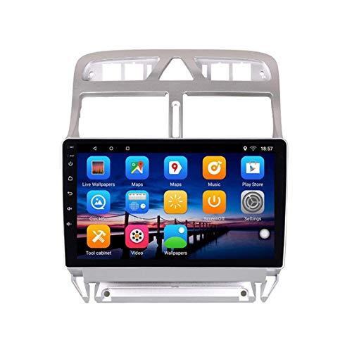 ZHANGYY Unidad Principal de Radio estéreo para Coche con Android 8.1 de 9 Pulgadas Compatible con Peugeot 307 307CC 307SW 2004-2013, navegación GPS/Bluetooth/FM/RDS/Control del Volante/cám