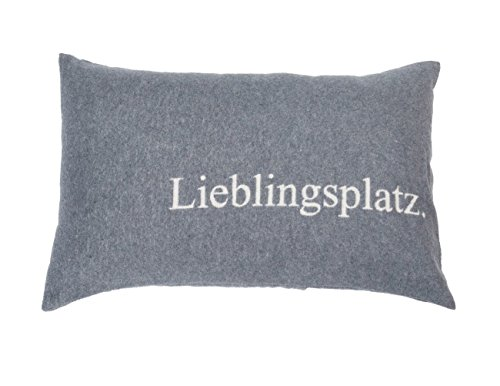 David Fussenegger - SILVRETTA - Kissenhülle/Kissenbezug - Lieblingsplatz - grau - 40 x 60 cm