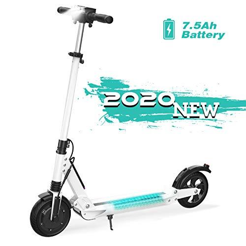 GeekMe Scooter Elettrico City Scooter Fino a 30 km/h | Scooter Elettrico Pieghevole con Display LCD | Batteria agli ioni di Litio da 7.5A| Carica Massima 120 kg per Adulti e Bambini