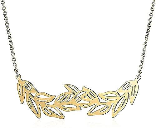 Aluyouqi Co.,ltd Collar Collar único con Hoja Collares Grandes de Acero Inoxidable para Mujer Regalos de joyería Super Fion