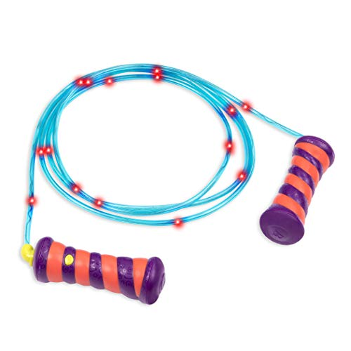 B. toys by Battat Jump Rope for Kids – Skippity Doo Da – Light Up Skipping Rope – Flashing & Changing Colors – 7  9In – Children 5 Years +
