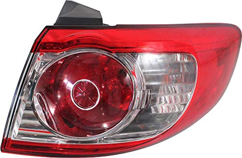 Tail Light Assembly Compatible with 2010-2012 Hyundai Santa Fe Outer Passenger Side