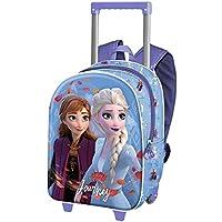 Frozen 2 Journey-Mochila 3D con Ruedas (Pequeña)
