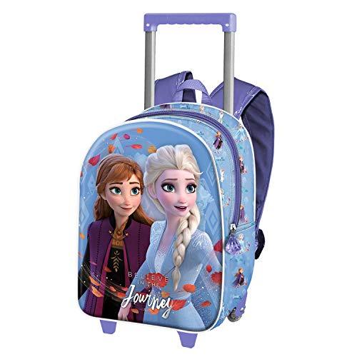 Karactermania Frozen 2 Journey - Mochila 3D con Ruedas (Pequeña), Color Multicolor