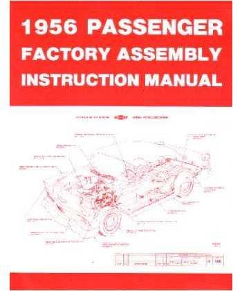 1956 Chevrolet Assembly Manual Book Rebuild