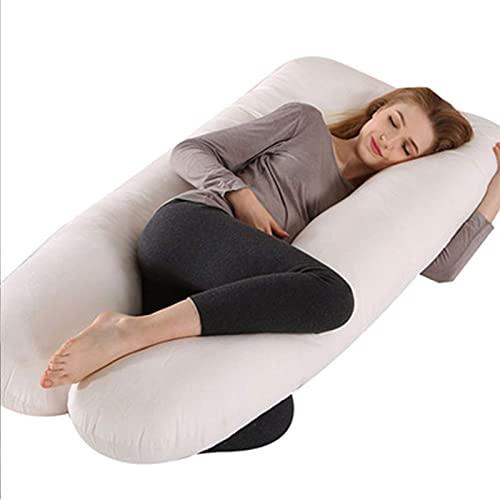 Almohada para Mujer Embarazada, en Forma de U, Almohada para Todo el Cuerpo, sueño Lateral, Embarazo, Soporte para la Cintura, Soporte para piernas, Soporte para el Vientre, Azul-3 kg