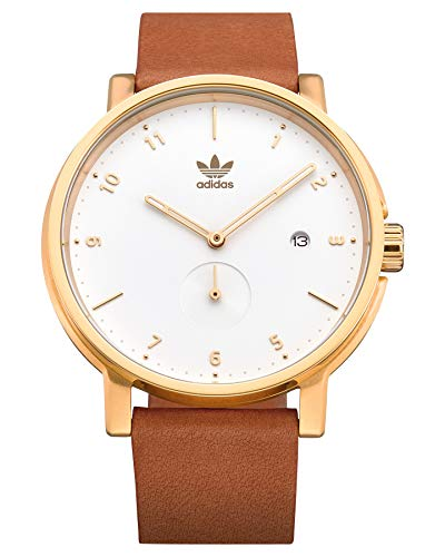 Adidas Herren Analog Quarz Uhr mit Leder Armband Z12-2548-00