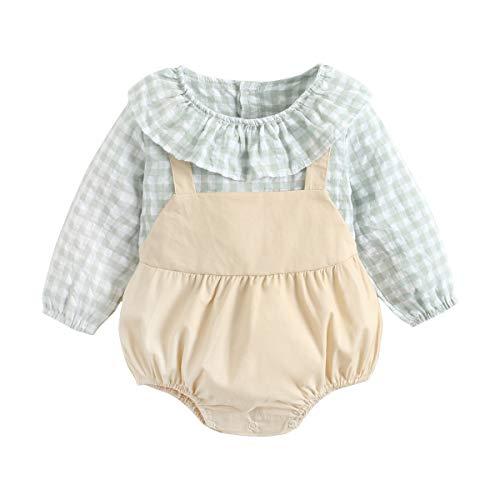 UMore Camiseta de Cuadros para Bebé Niño Jumpsuit Mameluco Manga Larga Camisa Casual Mono Bebe Recién Nacido Romper Traje Fiesta