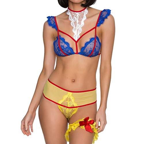 Lenceria Erotica de Mujer Vestido Ropa Interior de Encaje de