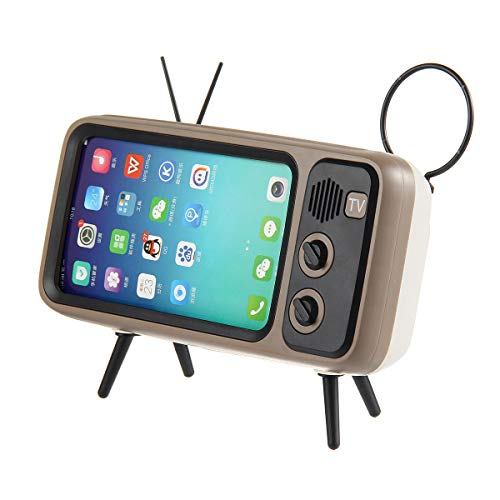 KOBWA Retro TV BT Speaker, Portable BT Speaker with Phone Stand Holder, 3D Stereo Sound Quality
