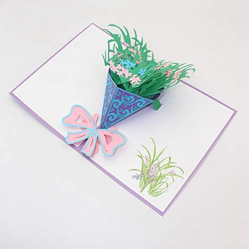 CRAINY 3D, dreidimensional, Grußkarten, Papierschneiden, Origami, Pflanzen, Orchideen, Blumensträuße, Lehrertag, Geburtstag, Freundin Geschenk