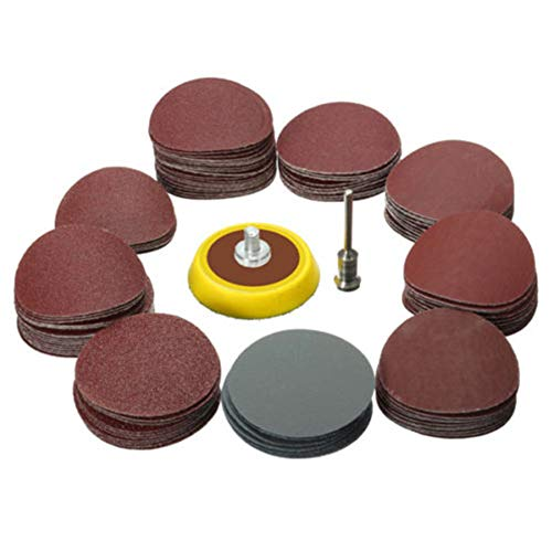 Set di dischi abrasivi e carta vetrata mini trapano 2,5 cm, strumento di pulizia per lucidatura flessibile kit accessori Power 1/8 Grit Rotary, Come da immagine, Taglia libera