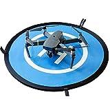 Pista de aterrizaje de drones, 30'/75cm Impermeable Helicoptero Plegable Portátil Helicoptero Landig Mat para DJI Mavic Pro Phantom 2/3/4/Pro, Helicóptero RC, Mavic Pro, Chispa, Inspire drone y más