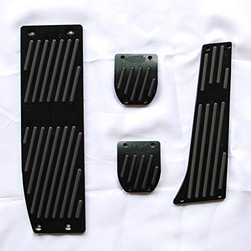 DHFBS Mode Silber/Schwarz Aluminiumlegierung Auto Pedale Rest, Für BMW X1 M3 E30 E36 E39 E46 E87 E90 E91 E92 E93 Auto-Styling-Zubehör