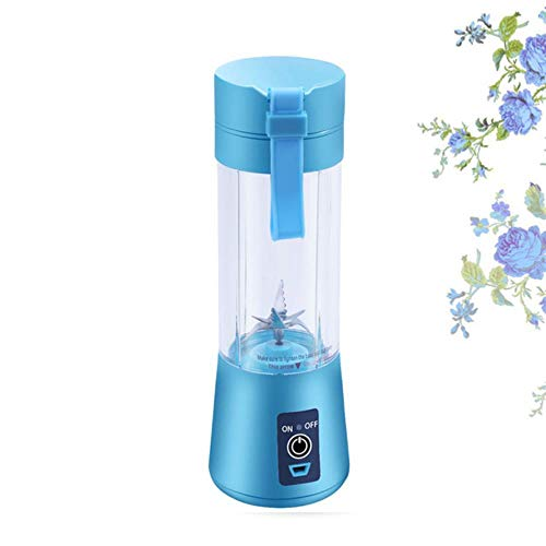 Licuadora de jugo portátil de 380 ml Vaso exprimidor USB Mezclador de frutas multifunción Máquina mezcladora de seis cuchillas Batidos Alimentos para bebés dropshipping nuevo, B, 380 ml