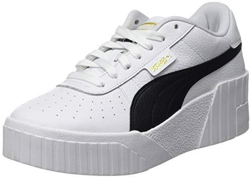 Puma Damen CALI Wedge WN S Sneaker, White Black, 38.5 EU