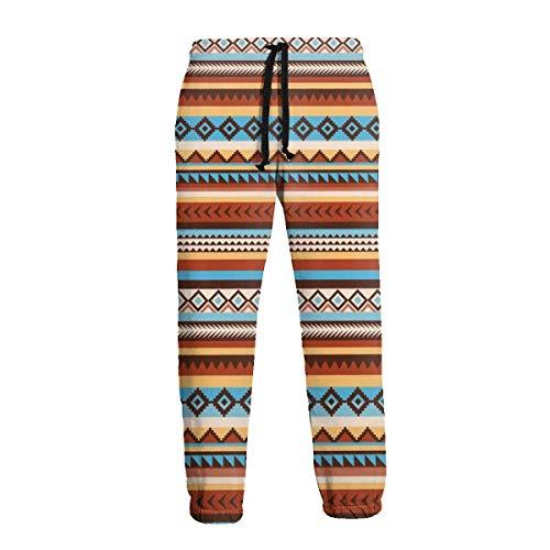 QUEMIN Nativo Americano Étnico Azteca Tribal Hombres Casual Jogger Pantalones Jogger Pant 3XL