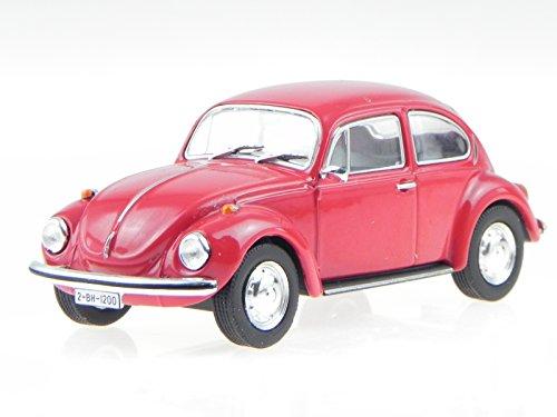 VW Käfer 1302 rot Modellauto in Vitrine 1:43