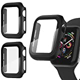 Recoppa [3 Pack] Apple Watch case with Screen Protector for Apple Watch 44mm Series 6/5/4/SE, Full Hard Cover Ultra-Thin Bumper HD Clear Protective Film Scratch Resistant for Women Men iWatch