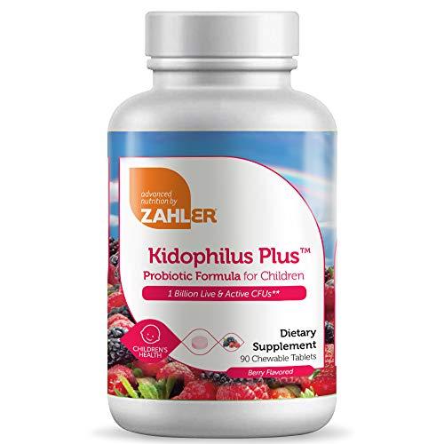 Zahler Kidophilus, Kids Probiotic, Great Tasting Probiotics for Kids, Certified Kosher (90 Count)