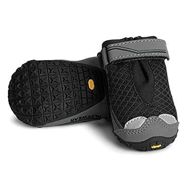 Ruffwear Grip Trex, All-Terrain Paw Wear for Dogs, Obsidian Black, 2.0 in (Set of 4)