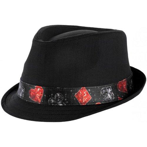 Keyone Chapeau Poker Trilby (L/XL (58-61) - Noir)