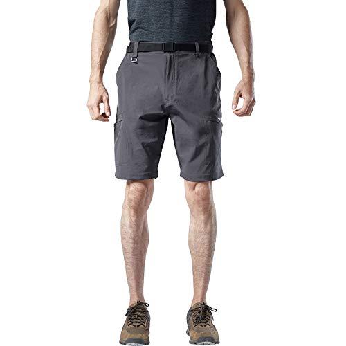DONNU Pantalones Cortos De Secado RáPido para Hombres con MúLtiples Bolsillos Pantalones De Entrenamiento Pantalones Cortos De Senderismo De Secado RáPido EláSticos De Cuatro Lados De Gran TamañO