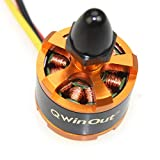 QWinOut 920KV Brushless Motor with Motor Cap for 3-4S Lipo F330 F450 F550 Compatible for dji Phantom Cheerson CX-20 DIY RC Quadcopter Drone (CW)