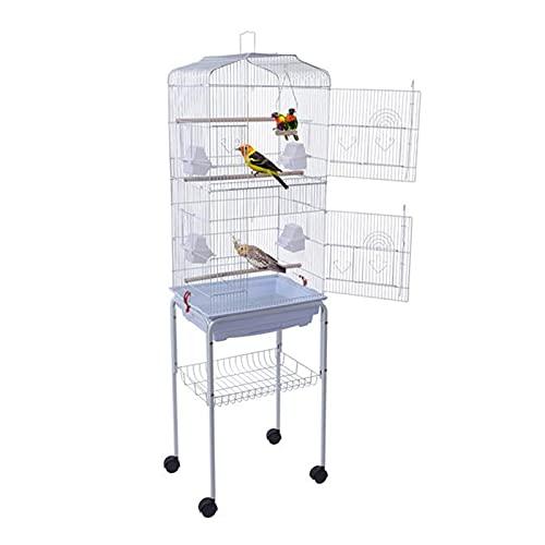 SHUNFAYOUXIANGS Parrot de jaulas de pájaros 59'Bird Cage Pet suministra Jaula metálica con Soporte de laminación para Las Cockatiels periquitos.