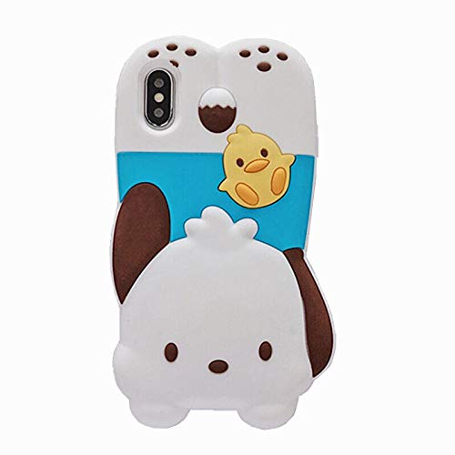 "SevenPanda iPhone 8 Plus Hülle Niedliche iPhone 7 Plus Hülle 3D Cartoon Silikon Mädchen Frauen Nette Lebendig Teen Girls Handyhüllen iPhone 7 Plus 5.5"" (Hund & Ente)"