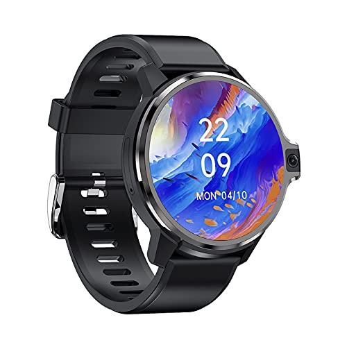 FHJL LEMP 4G Llame a Smart Watch, Pantalla táctil Redonda de 1.6 Pulgadas HD 4 + 64 g Memoria 5 + 5MP Cámara Dual 1050mAh Sistema de Doble Chip de batería Pulsera intelig