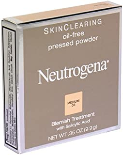 Neutrogena Skin Clearing Oil-Free Pressed Powder, Medium 03, 0.35 Ounce (9.9 g) (Pack of 2)
